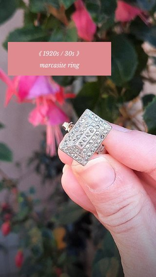 《 1920s / 30s 》 marcasite ring