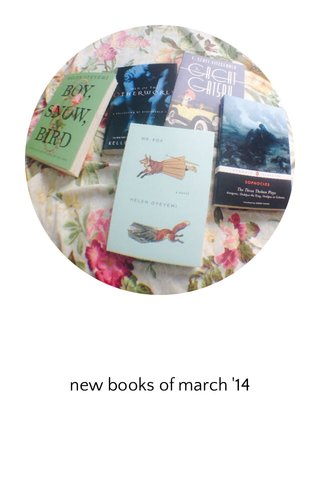 new books of march '14