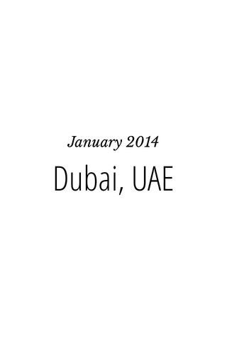 Dubai, UAE January 2014
