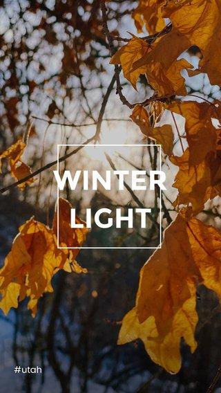 WINTER LIGHT #utah