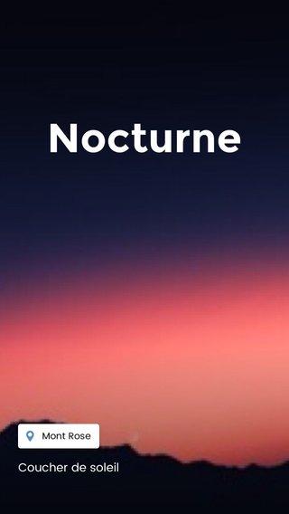 Nocturne Coucher de soleil