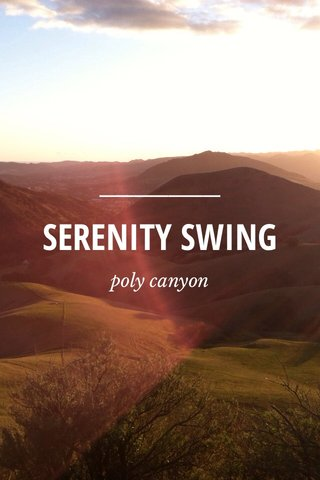 SERENITY SWING poly canyon