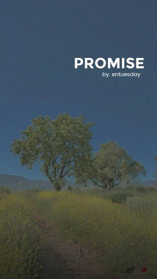 PROMISE by. entuesday