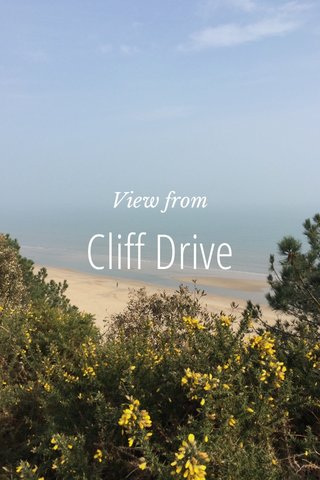 Cliff Drive View from