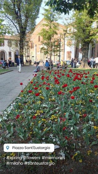 #spring #flowers #memories #milano #santeustorgio