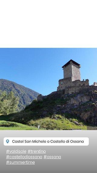 #valdisole #trentino #castellodiossana #ossana #summertime