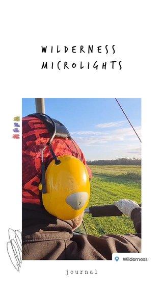 wilderness microlights journal