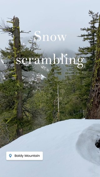 Snow scrambling