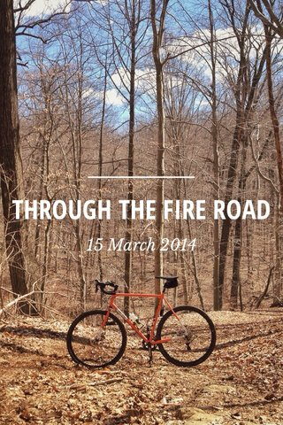 THROUGH THE FIRE ROAD 15 March 2014