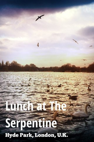 Lunch at The Serpentine Hyde Park, London, U.K.