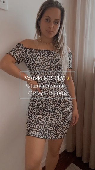 Vestido MISTLY!✨ ♡︎tamanho único. ♡︎Preço: 20,00€