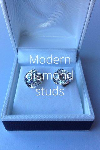 Modern diamond studs