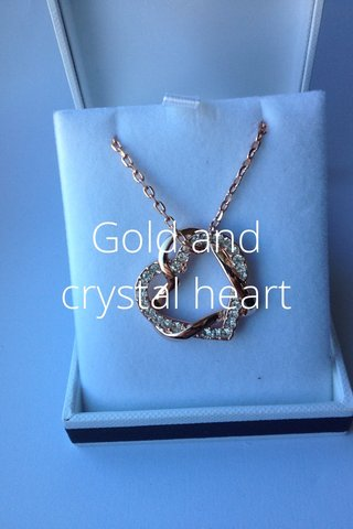 Gold and crystal heart
