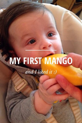 MY FIRST MANGO and I liked it :)
