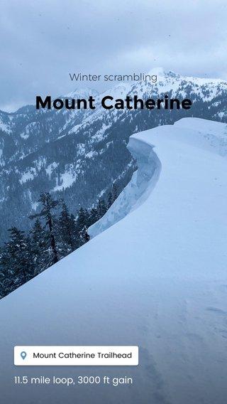 Mount Catherine Winter scrambling 11.5 mile loop, 3000 ft gain