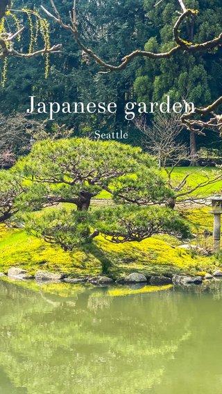 Japanese garden Seattle