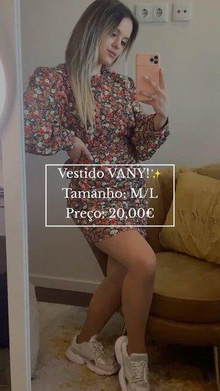 Vestido VANY!✨ Tamanho: M/L Preço: 20,00€