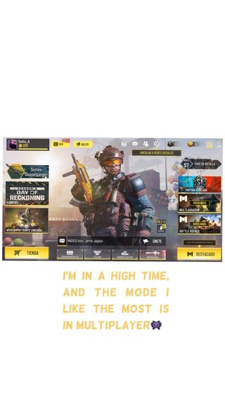 I'm in a high time, and the mode I like the most is in Multiplayer👾