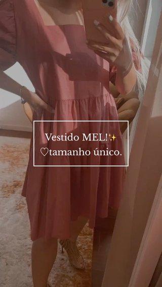 Vestido MEL!✨ ♡︎tamanho único.