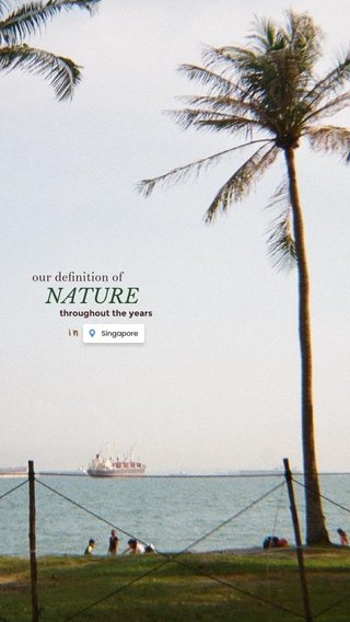 in NATURE our definition of throughout the years