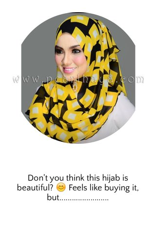 Don't you think this hijab is beautiful? 😊 Feels like buying it, but........................