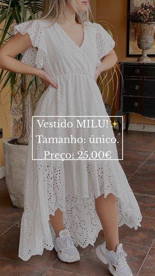 Vestido MILU!✨ Tamanho: único. Preço: 25,00€