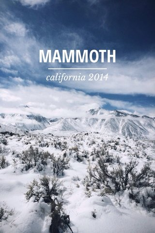 MAMMOTH california 2014
