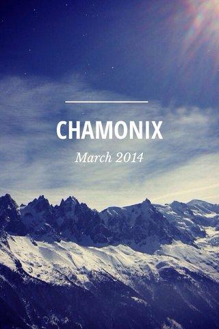 CHAMONIX March 2014