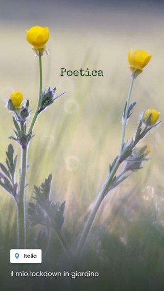 Poetica Il mio lockdown in giardino
