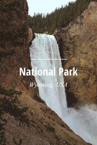 National Park Wyoming, USA