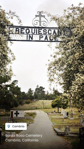 Santa Rosa Cemetery Cambria, California