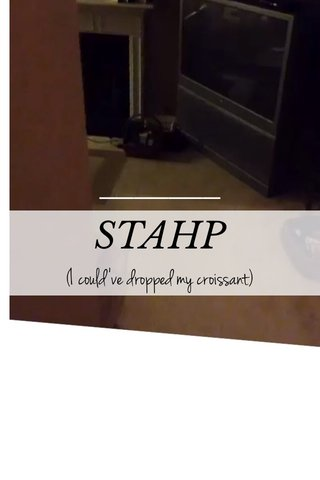 STAHP (I could've dropped my croissant)