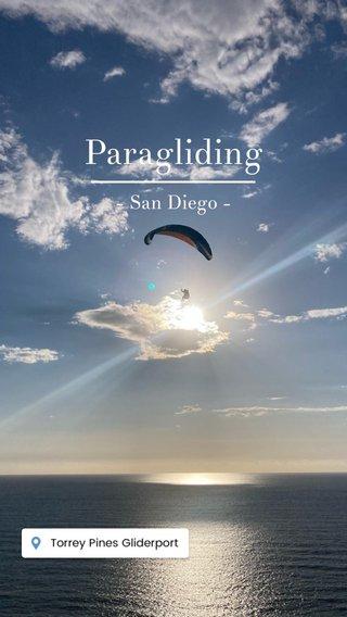Paragliding - San Diego -