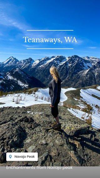 Teanaways, WA Enchantments from Navajo peak