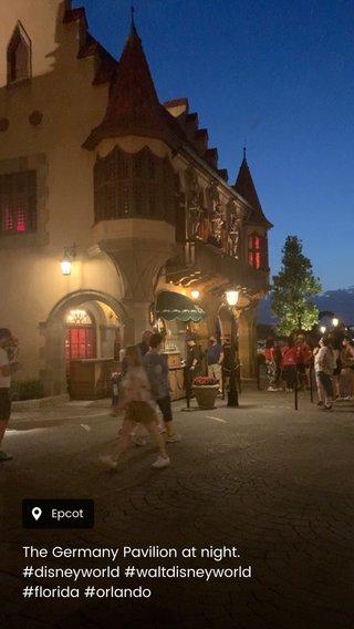 The Germany Pavilion at night. #disneyworld #waltdisneyworld #florida #orlando
