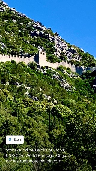Stonske Zidine (Walls of Ston), UNESCO's World Heritage, On sale on: lukapolphoto.picfair.com
