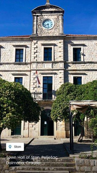 Town Hall of Ston, Pelješac, Dalmatia, Croatia