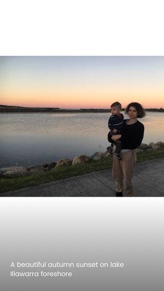 A beautiful autumn sunset on lake Illawarra foreshore
