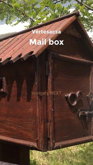 Mail box Vértesacsa Hungary NEXT