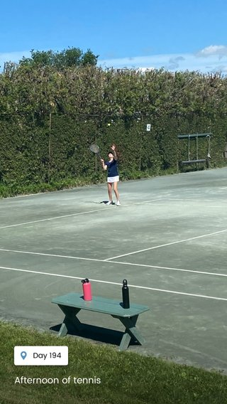 Afternoon of tennis