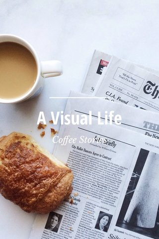 A Visual Life Coffee Stories