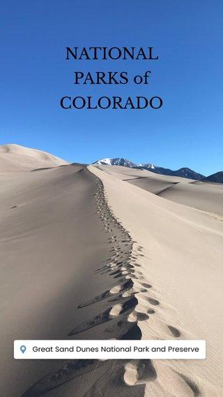 NATIONAL PARKS of COLORADO