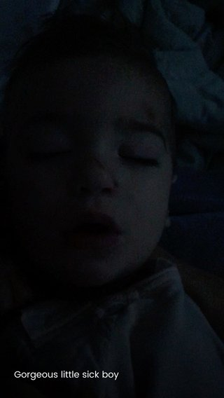 Gorgeous little sick boy