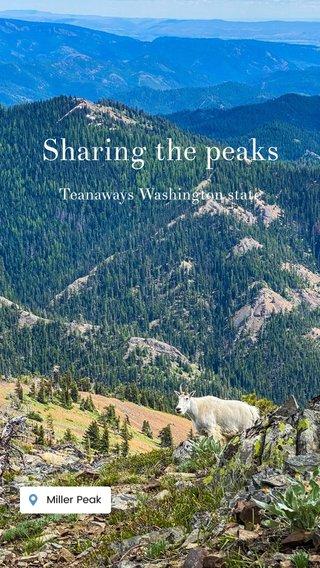 Sharing the peaks Teanaways Washington state