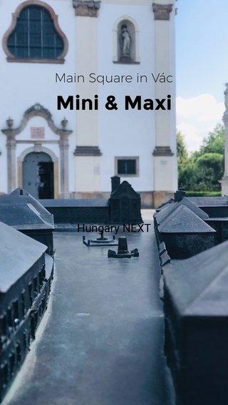 Mini & Maxi Main Square in Vác Hungary NEXT