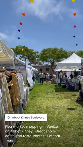 Flea market shopping in Venice, on Abbot Kinney. Great shops, cafes and restaurants full of that LA street style vibe!