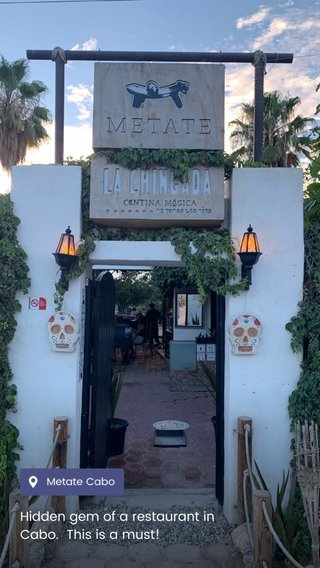 Hidden gem of a restaurant in Cabo. This is a must!