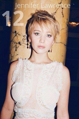 12 Jennifer Lawrence