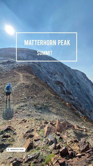 Matterhorn Peak Summit