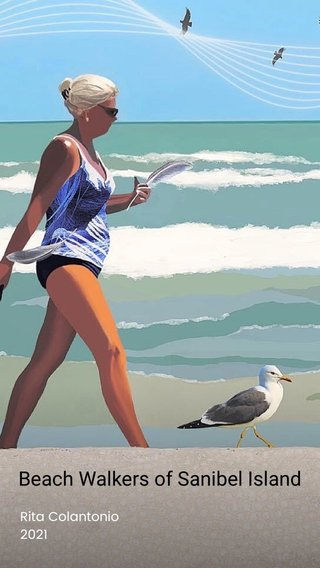 Beach Walkers of Sanibel Island Rita Colantonio 2021